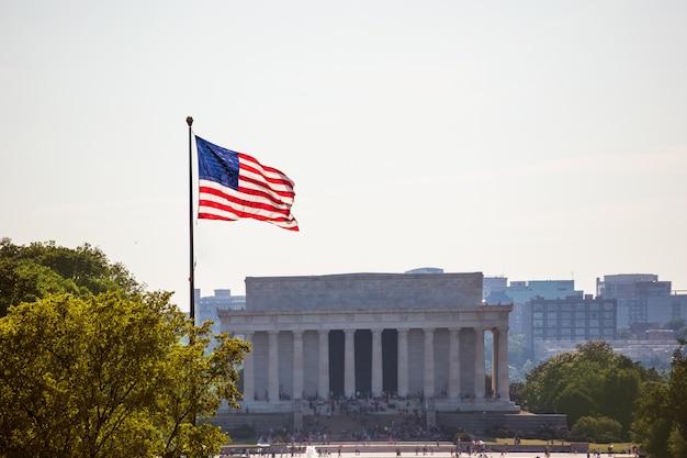 Abraham lincoln memorial buduje waszyngton dc