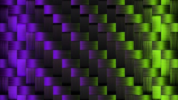 Abstrack tapety świecące fioletowo-zielony kwadrat render