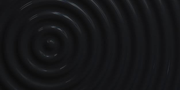 Abstract ripple circle undulate water circle błyszczące kołysanie tła 3d ilustracji