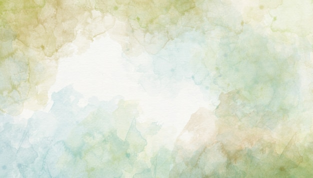 Abstrakcja zielone tło akwarela