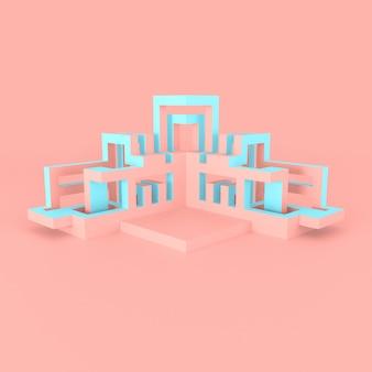 Abstrakcjonistyczna architektoniczna pojęcia 3d ilustracja