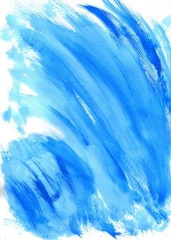 Abstrakcjonistyczna błękitna akwarela na białym tle