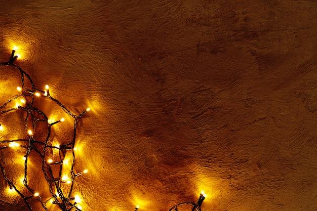 Abstrakcjonistyczna bożonarodzeniowe światła girlanda na zmroku