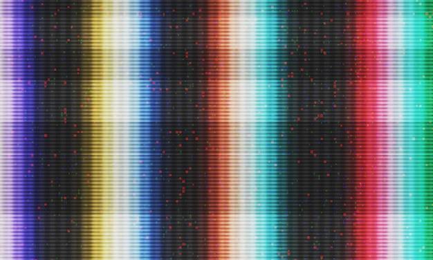 Abstrakcjonistyczna Ilustracja Tv Ekranu Sygnału Błąd. Glitch Efekt Tła. Obraz Koncepcyjny Martwych Pikseli Vhs. Premium Zdjęcia