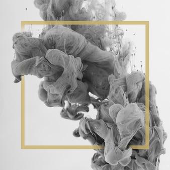 Abstrakcjonistyczna kolorowa atrament kropla na jasnym tle z ramą.