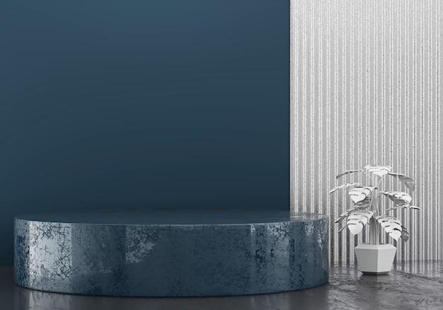 Abstrakcjonistyczna minimalna scena dla produktu pokazu teraźniejszości tła, 3d rendering.
