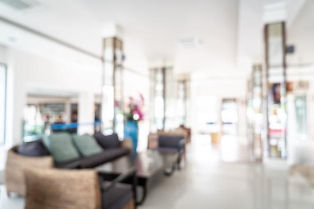 Abstrakcjonistyczna plama i defocused lobby w hotelowym wnętrzu dla tła