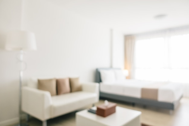 Abstrakcjonistyczna plama i defocused sypialni wnętrze i dekoracja