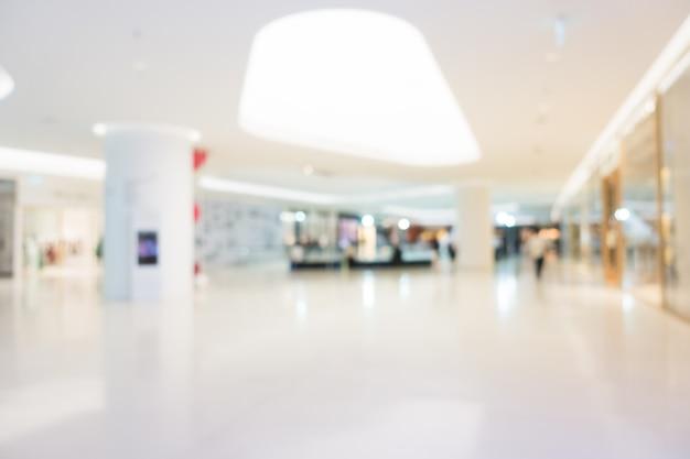 Abstrakcjonistyczna plama i defocused zakupy centrum handlowe