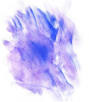 Abstrakcjonistyczna purpurowa akwarela na białym tle
