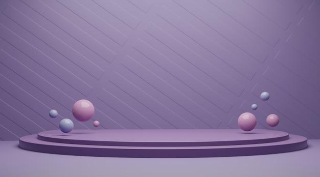 Abstrakcjonistyczna scena dla produktu pokazu 3d renderingu