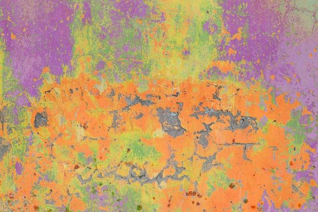 Abstrakcjonistyczna stara ściana betonu tekstura barwiąca w jaskrawych kolorach