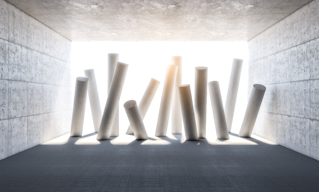 Abstrakcjonistyczne kolumny 3d