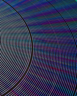 Abstrakcjonistyczni neonowi światła na cudu kole