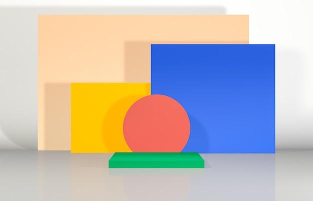 Abstrakcjonistyczny 3d składu podium tło z geometrycznym kształtem dla pokazu produktu.