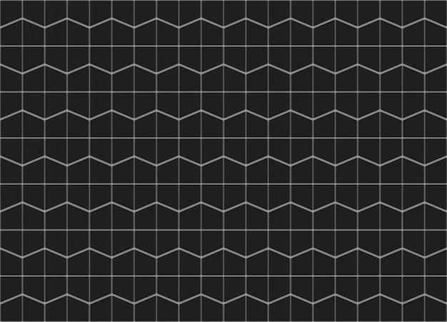 Abstrakcjonistyczny bezszwowy czarny trapezoidalny wzór ściany tło