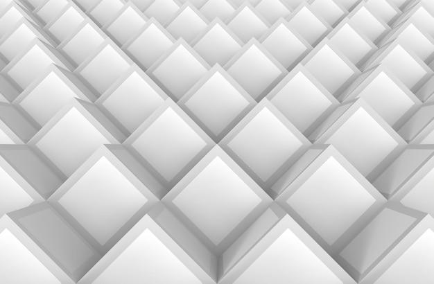 Abstrakcjonistyczny biały sześcian pudełek sterty wzoru tło.