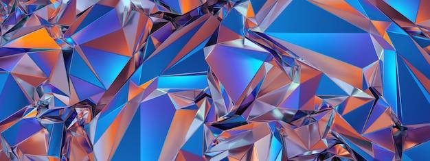 Abstrakcjonistyczny błękitny czerwony poligonalny krystaliczny tło