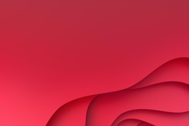 Abstrakcjonistyczny czerwień papieru sztuki tło