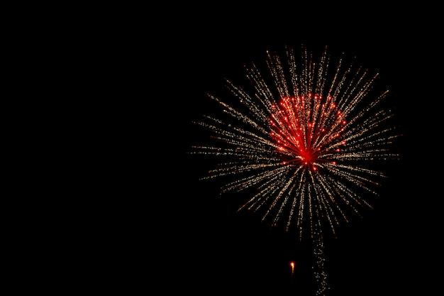Abstrakcjonistyczny fajerwerku tło z przestrzenią