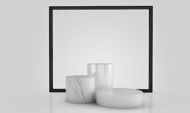 Abstrakcjonistyczny geometryczny kształtów 3d rendering