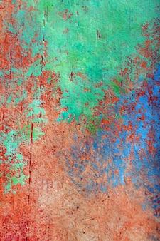 Abstrakcjonistyczny kolorowy obraz olejny na drewnianej desce