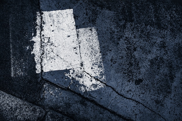 Abstrakcjonistyczny kolorowy skład na asfalcie