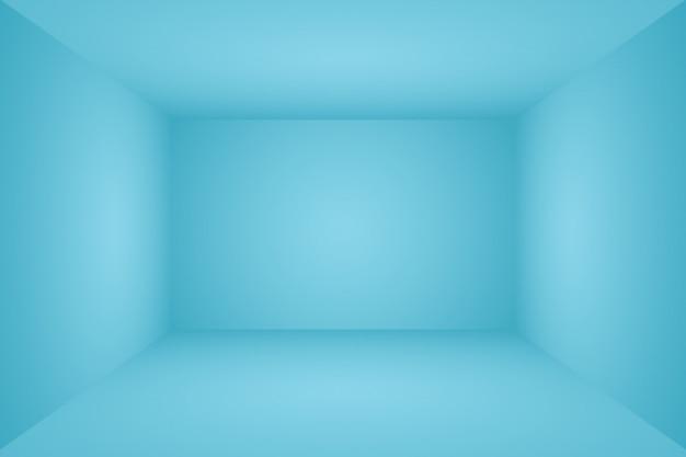 Abstrakcjonistyczny luksusowy gradientowy błękitny tło. pokój studio 3d.