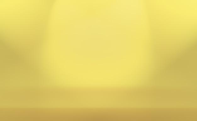 Abstrakcjonistyczny luksusowy złoty żółty gradientowy studio ściany tło