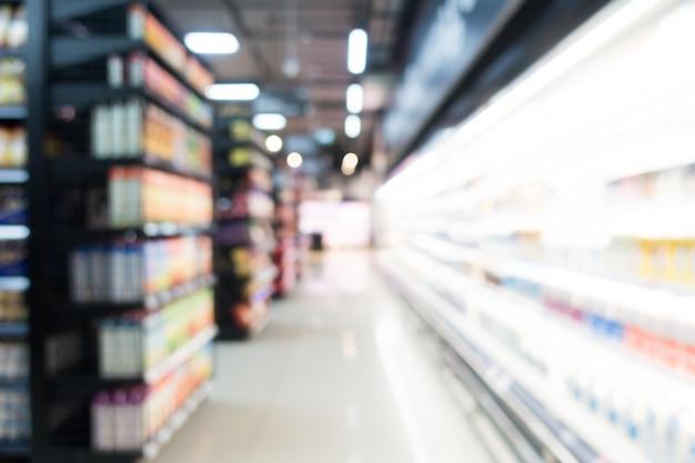 Abstrakcjonistyczny plama supermarket w wydziałowym sklepie