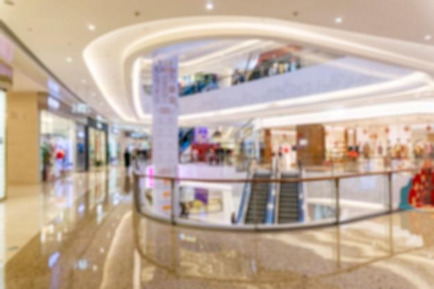 Abstrakcjonistyczny plama zakupy centrum handlowe wydziałowego sklepu wnętrze dla tła