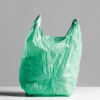 Abstrakcjonistyczny Plastikowej Torby Pojęcie Z Kopii Przestrzenią Premium Zdjęcia