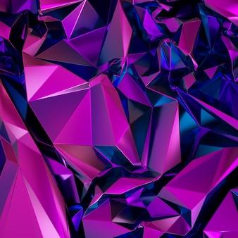 Abstrakcjonistyczny purpurowy poligonalny krystaliczny tło