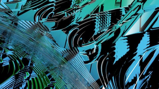 Abstrakcjonistyczny szklany tła 3d rendering