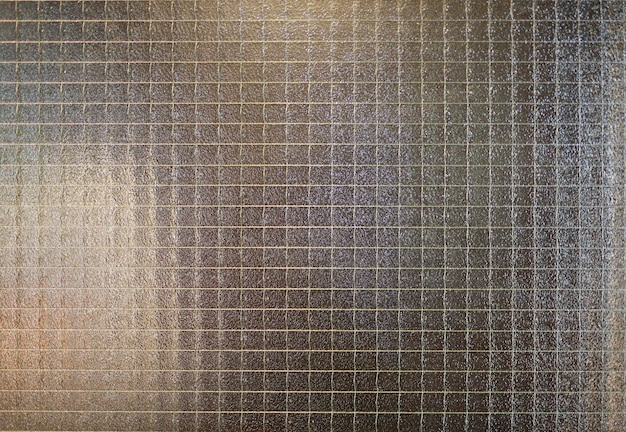 Abstrakcjonistyczny szkło z drucianą siatki teksturą.