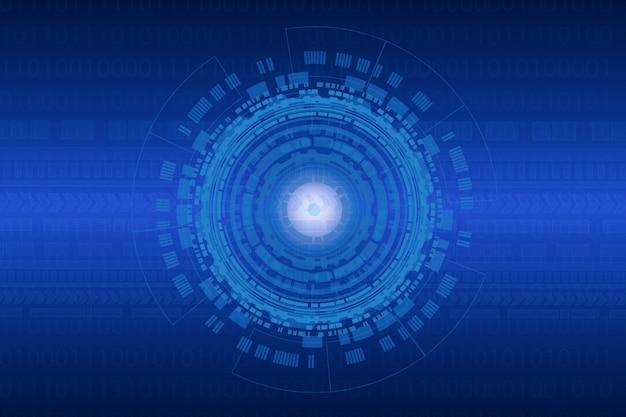 Abstrakcjonistyczny technologii tło dla internet rzeczy