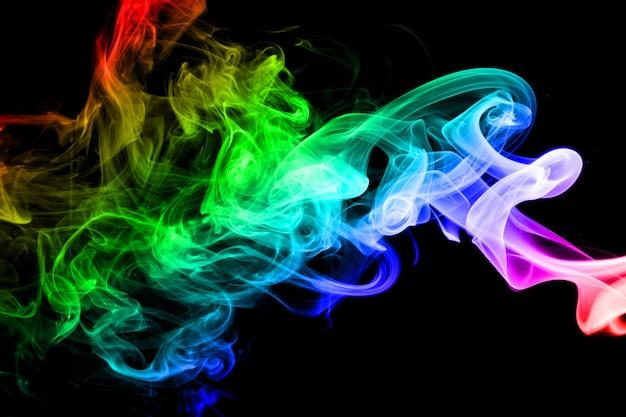Abstrakcjonistyczny tęczy dymu tło