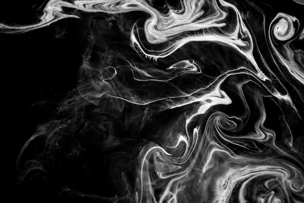 Abstrakcjonistyczny tekstura atrament na wodzie w czarny i biały kolorze dla tła