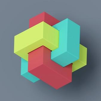 Abstrakcjonistyczny tło geometryczny kształt. renderowanie 3d.