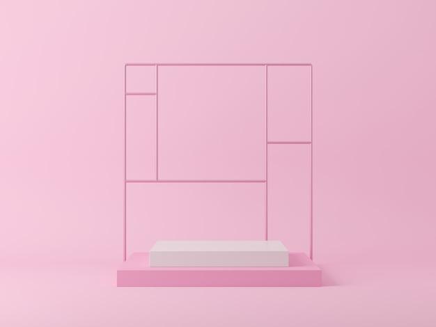 Abstrakcjonistyczny tło, scena dla produktu pokazu. renderowanie 3d