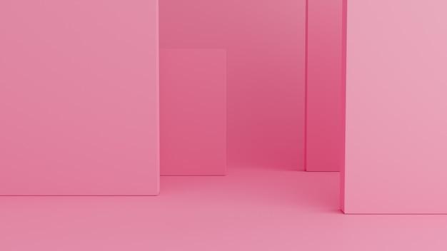 Abstrakcjonistyczny tło, sceny podium.