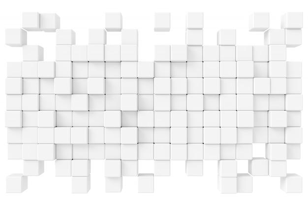 Abstrakcjonistyczny tło sześciany. renderowanie 3d.