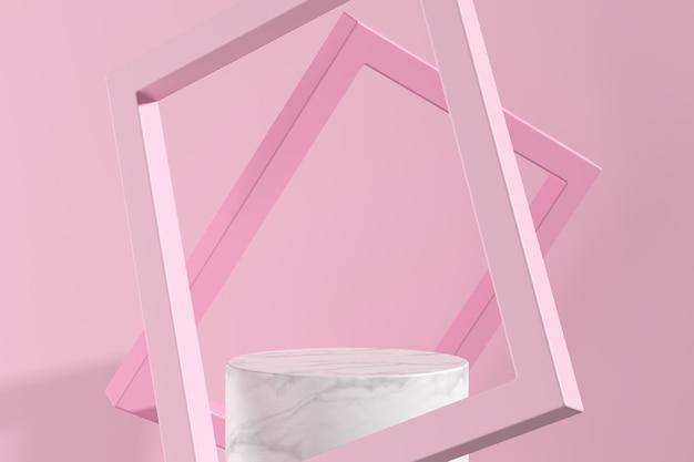 Abstrakcjonistyczny tło, wyśmiewa w górę sceny dla produktu pokazu. renderowanie 3d