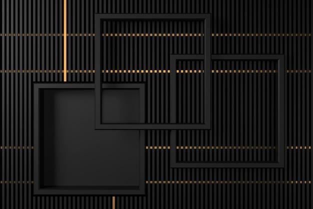 Abstrakcjonistyczny tło z ciemności pojęciami. renderowanie 3d.