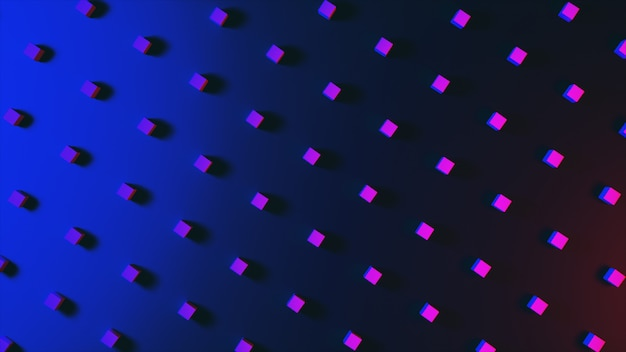 Abstrakcjonistyczny tło z cudownymi kolorowymi sześcianami