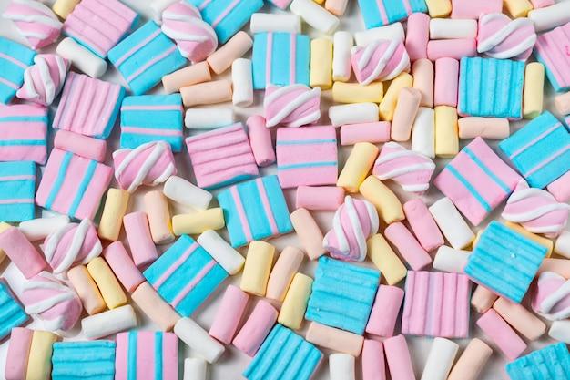 Abstrakcjonistyczny tło z udziałami kolorowi marshmallows