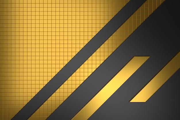 Abstrakcjonistyczny tło złoty metal. renderowanie 3d.