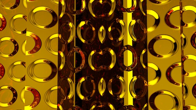 Abstrakcjonistyczny złocisty tło z płynąć falistą
