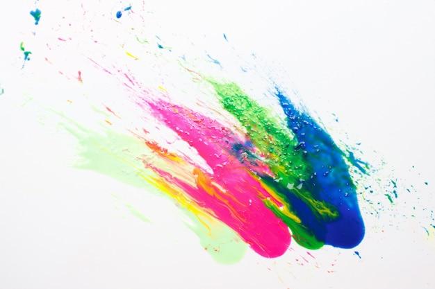 Abstrakcjonizm, kreatywne malarstwo nowoczesne, sztuka abstrakcyjna na białym tle