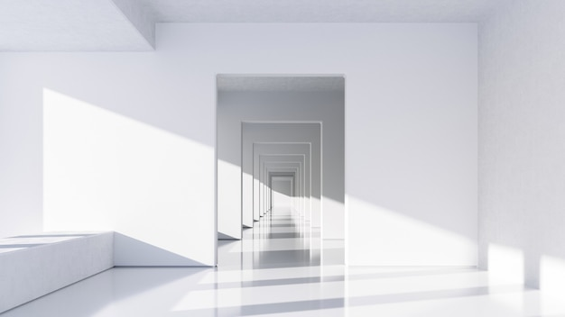 Abstrakcyjna biała architektura b.
